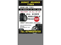 """brand new car tyres all sizes £25 each all sizes wholesale 13""""-19"""" 07466379735"""