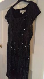 NEXT black sequined cocktail dress Size 14