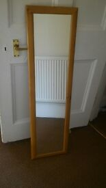 Beech wood floor length mirror- excellent condition!