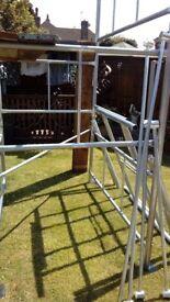 New lightweight steel scaffolding