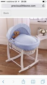 Baby cot and swinging Moses basket