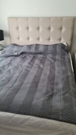 Taupe Double Bed with Mattress