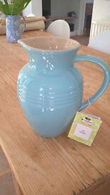 Brand new pale blue large Le Creuset jug
