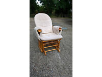 Lovely rocking breastfeeding chair and stool in decent condition