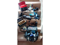 35mm camera X 2 and camcorder with accessories