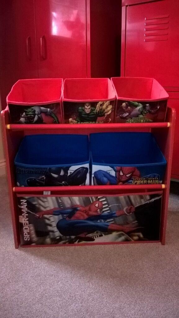 Spiderman Kids Toy Storage Unit. Toddler Or Kids Bedroom. Wolverhampton