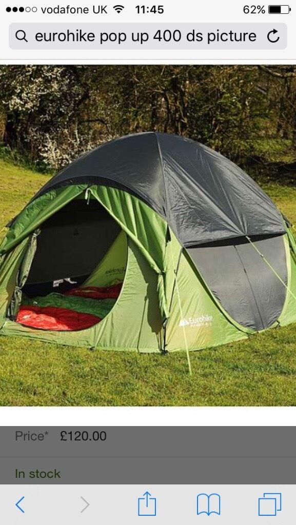 Eurohike 4 man pop up tent & Eurohike 4 man pop up tent | in Carlton Nottinghamshire | Gumtree