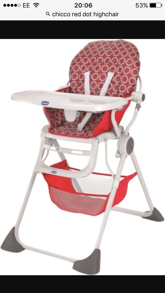 Gentil Chicco Red High Chair