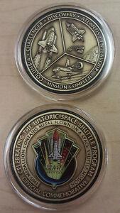 Kennedy Space Center NASA Coin Medallion Token Contains Flown In Space Metal