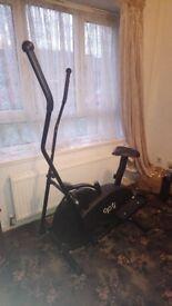 Nearly new crosstrainer/excercise bike for sale