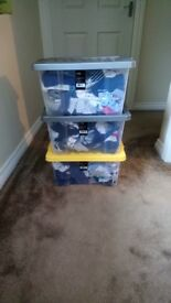 3 Totes of Baby clothes