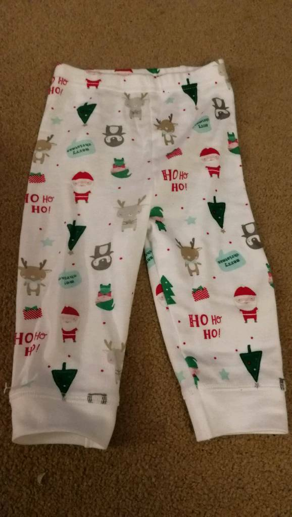 Brand new mothercare 3-6months Christmas bottoms