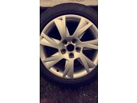 Original Audi A5 Alloy wheels with tyres