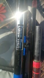 2 older CONOFLEX beachcaster fishing rods