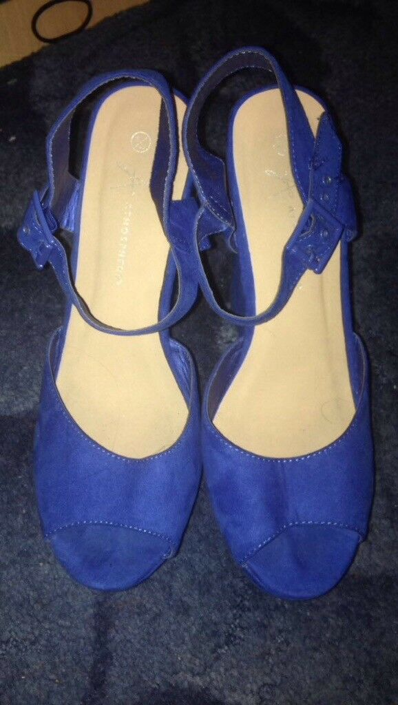 Blue size 8 wedges