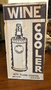 Vintage Clay Wine Cooler With Coaster