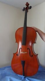 YAMAHA VC5S CELLO (full size) Lovely NEW instrument fitted with Wittner fine tune pegs. + hard case
