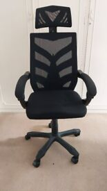 Black Mesh Work chair with head rest