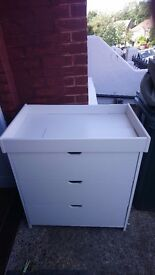 Mamas and Papas White Chest of Drawers