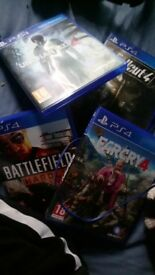 Cheap Ps4 games: farcry 4 battlefield hardline uncharted 4 fallout 4