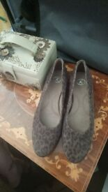 Leopard print k shoes compfy smart casual fashion padded shoes ladies womens 5 georgeous stunning