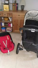 Used Ono My4 buggy and maxi Cosi car seat system