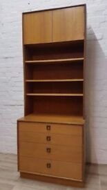 G-plan Bookcase Unit Over Four Drawers (DELIVERY AVAILABLE FOR THIS ITEM OF FURNITURE)
