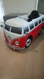 VW car 6V electric powered campervan ride on