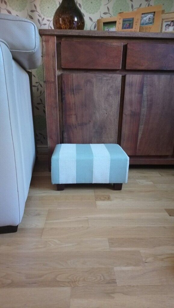 Outstanding Foot Stool Pastel Stripe Wood Block Feet Small Footstool In Copmanthorpe North Yorkshire Gumtree Beatyapartments Chair Design Images Beatyapartmentscom