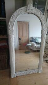 Painted solid oak mirror