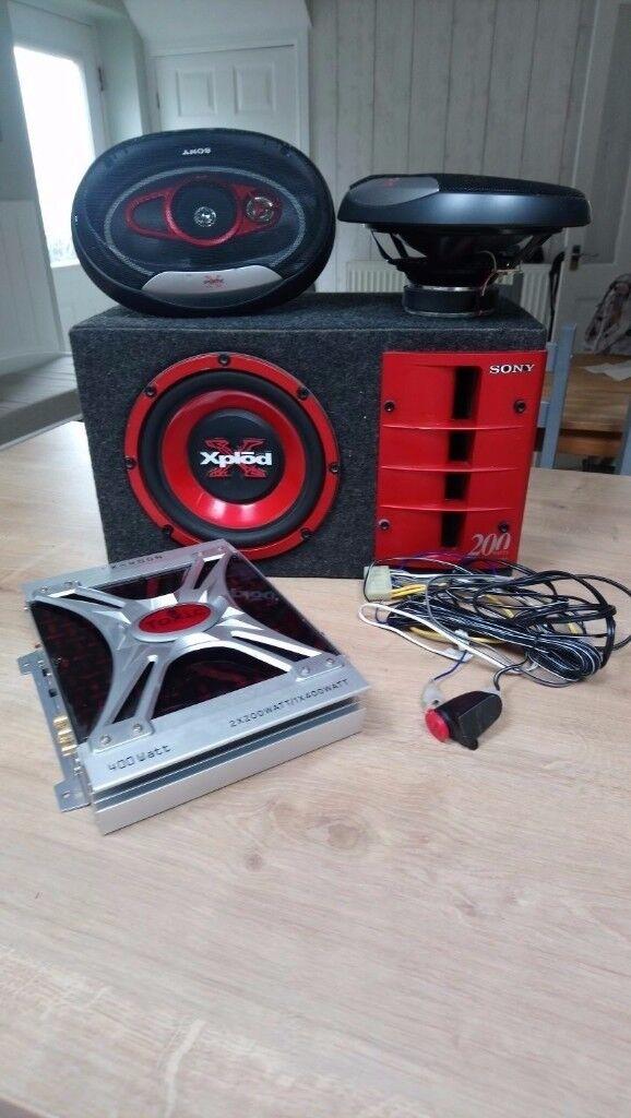 sony speaker and toxic amp
