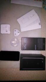 Brand New & Boxed i Phone 7 32GB Jet Black Unused - mint condition