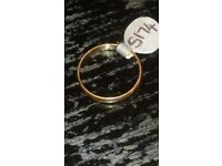 14CT MEN'S GOLD BAND 3 MM SIZE T 1/2 2.5G WEIGHT