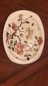 Vintage Oval Platter and Plate Ming Tree Jessie Tait
