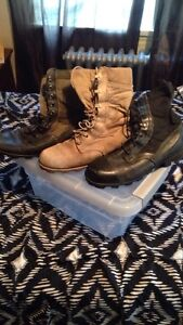 Military Issue Field Combat Boots Men's Size 8W