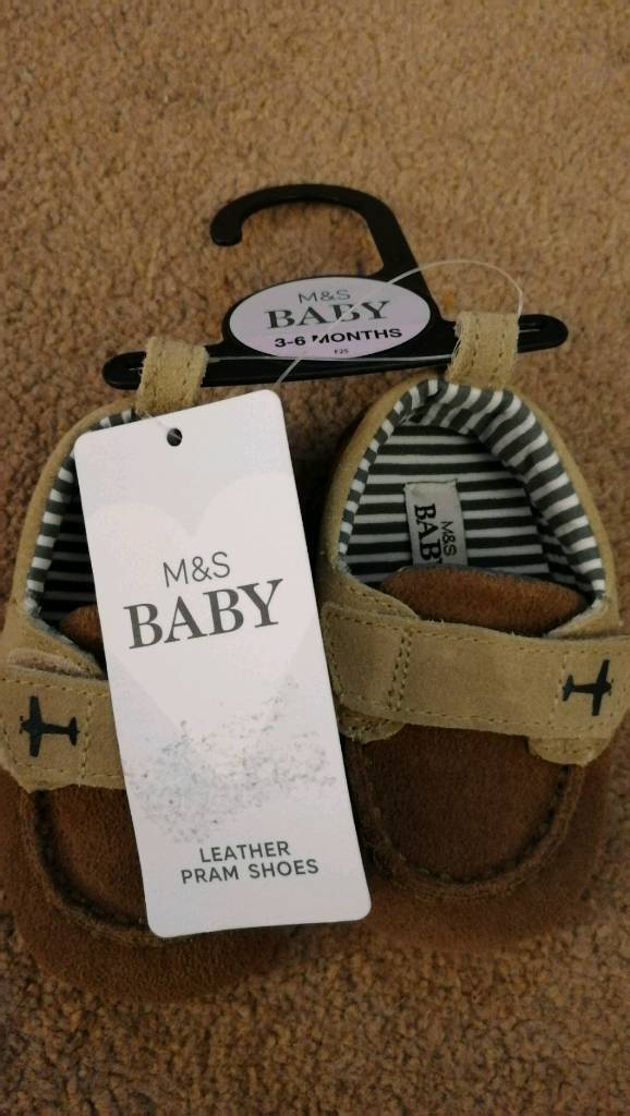 M&s baby 3-6months pram shoes worn once