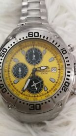 mens PULSAR alarm chronograph watch stunning looking boxed
