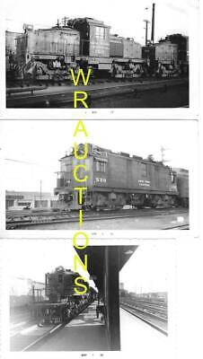 8 VINTAGE NEW YORK CENTRAL-NYC RAILROAD/RR ELECTRIC LOCOMOTIVE PHOTO PRINT LOT