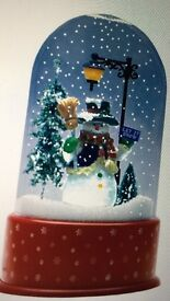 Christmas snowman snowing musical dome new in box £15 selling RSP £40