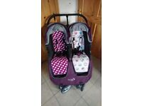 Baby jogger city mini double in excellent condition with accessories