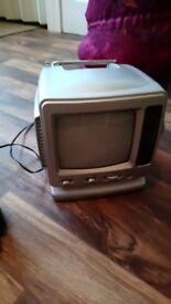 1990's Mini TV with Radio