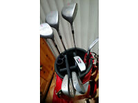 Gents Beginners set of clubs and bag - Swilken drivers, Mizuno and John Letters irons