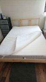 Double bed 1,30m, almost new