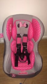 Minnie Mouse car seat newborn up to 3 yrs