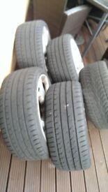 """19"""" Snowflake Alloy wheels / Vauxhall Vectra VXR"""