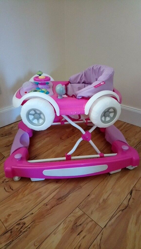 Baby girl bundle (seat,walker and activity table)