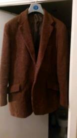Heavy vintage Harris Tweed jacket in Brown size 44