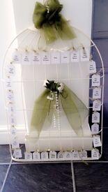 Birdcage wedding table planner