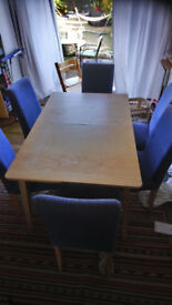 Ikea table and 6 chairs for FREE
