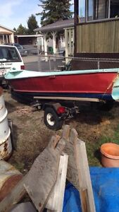 14' fishing boat and trailer